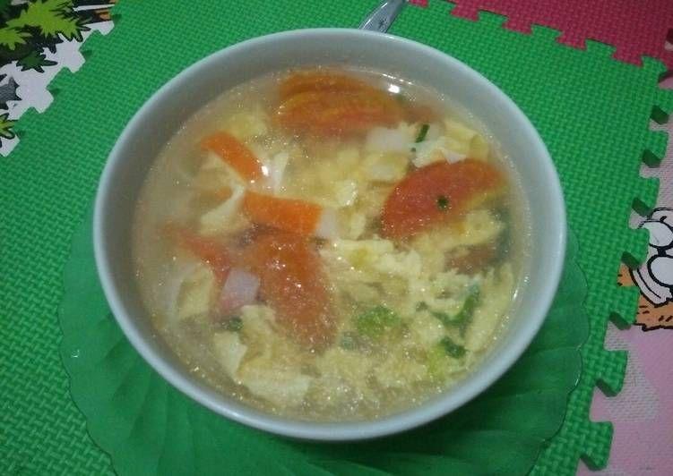 Resep Tan Hua Tang Sup Tomat Telor Oleh Pawon Ummi Fayadh Resep Sup Tomat Resep Resep Sup