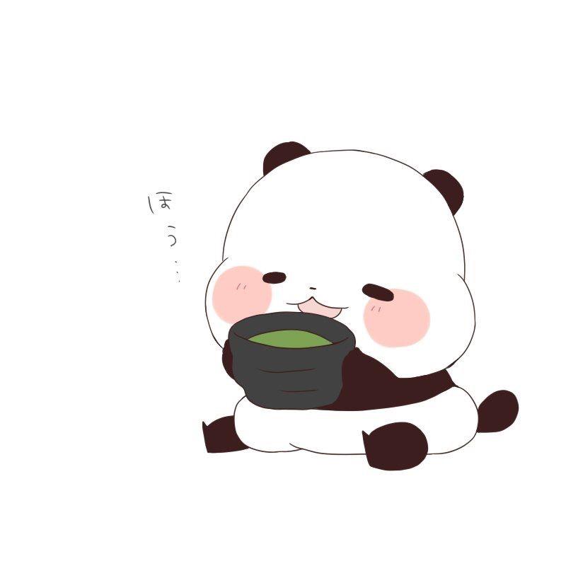 Chibi Panda Funny Bears Love Red