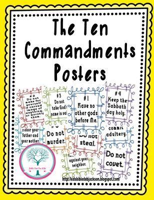 Catholic Ten Commandments For Kids : catholic, commandments, Commandments, Visuals, Catholic,, Commandments,, Bible, Lessons, Elementary
