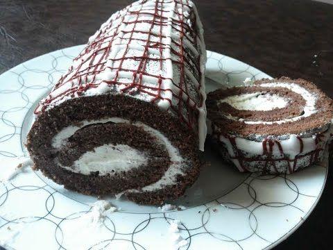 طريقة عمل بيسكوي رولي بالشوكولا من حصة أذواق خديجة 2 Samira Tv Youtube Desserts Food Cheesecake