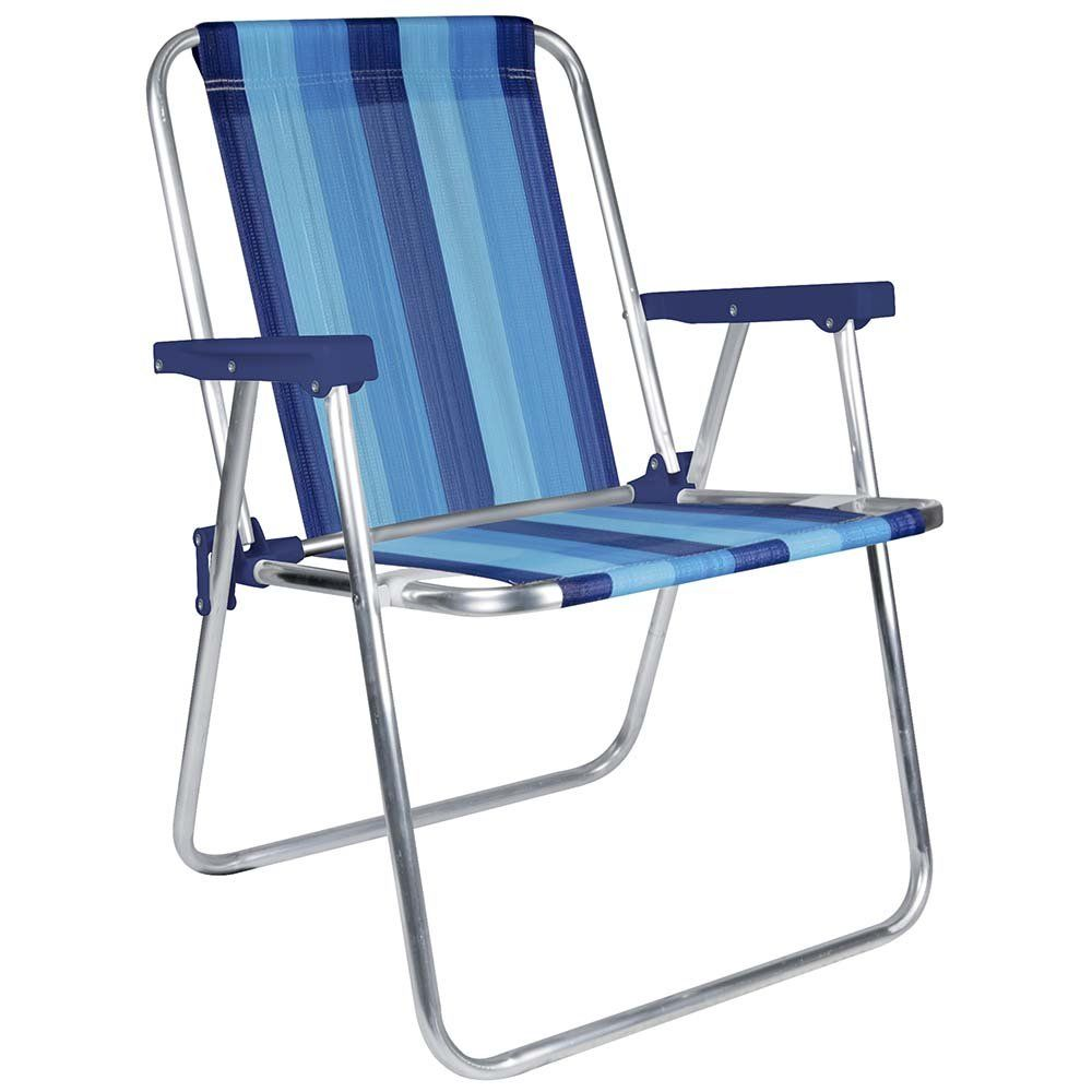 Mor Aluminum Beach Chair 1 Position Pack Of 1 Blue Variation Stripe Folding Beach Chair Aluminum Beach Chairs Beach Chairs