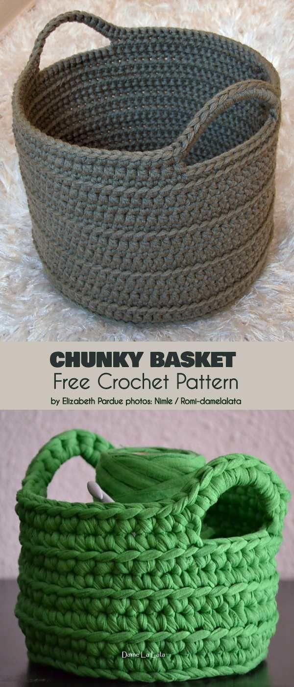 Chunky Basket Free Crochet Pattern Lavori Con Lana Company