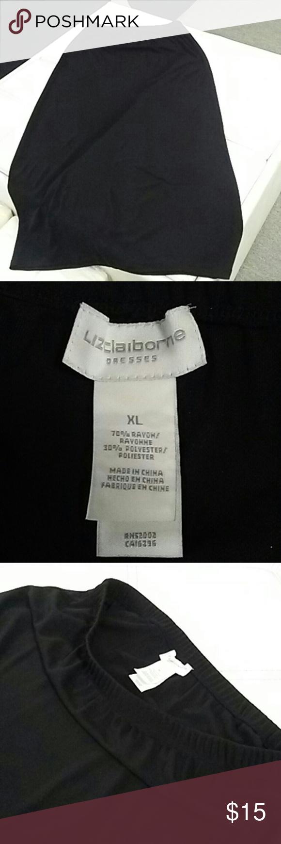 1pc Black skirt..39inches long 1pc Black skirt 70% rayon 30% polyester Liz Claiborne Skirts Midi