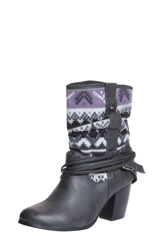 Rebekah Black Brushed Knit Cowboy Boot