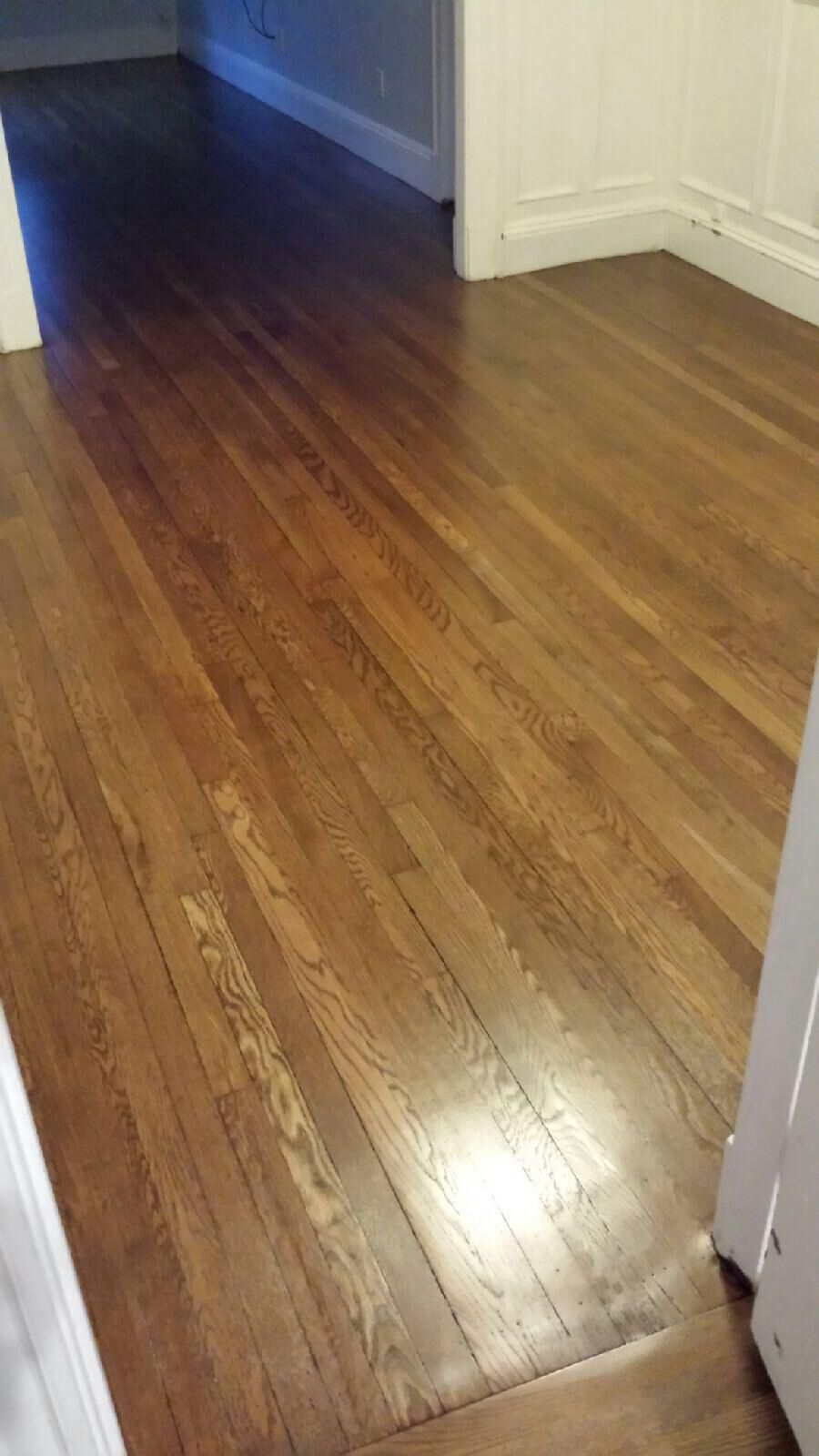 Refinished hardwood floors with minwax special walnut for Color of hardwood floors
