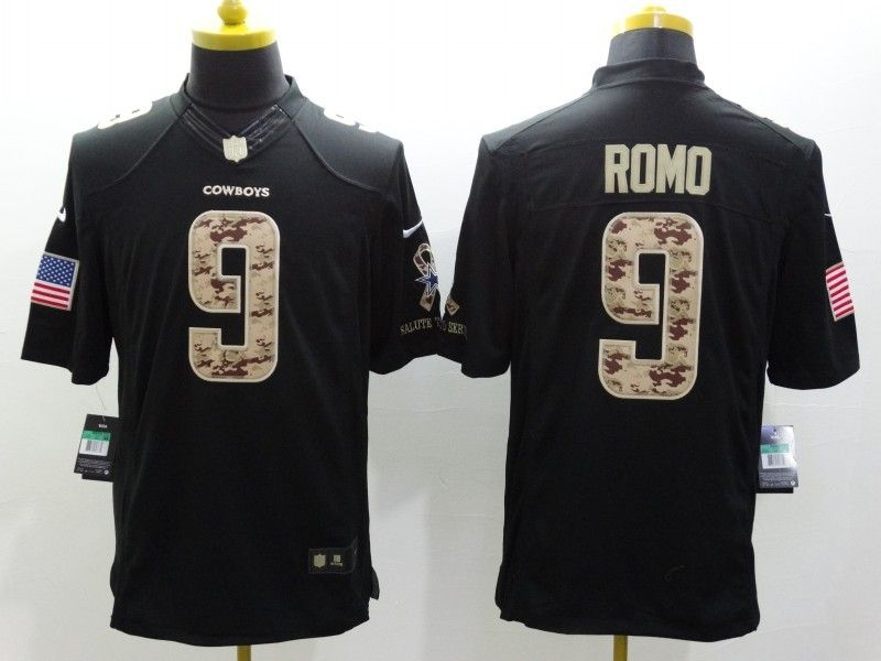 1009a0d826f Cheap Wholesale Mens Dallas Cowboys #9 Tony Romo Nike Black Salute To Service  Jersey Size S-XXL stock.Contact US If need purchase.