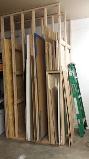 Sheet Goods Storage Rack For Storing Plywood And Drywall