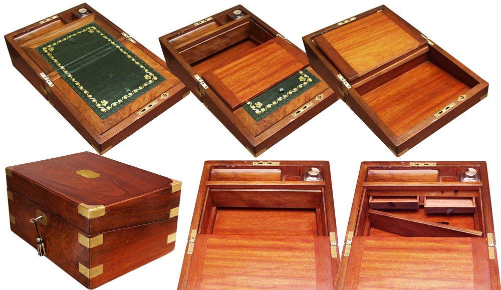 I Love Secret Drawers. (Victorian Walnut Writing Slope) · Lap DeskPuzzle ...