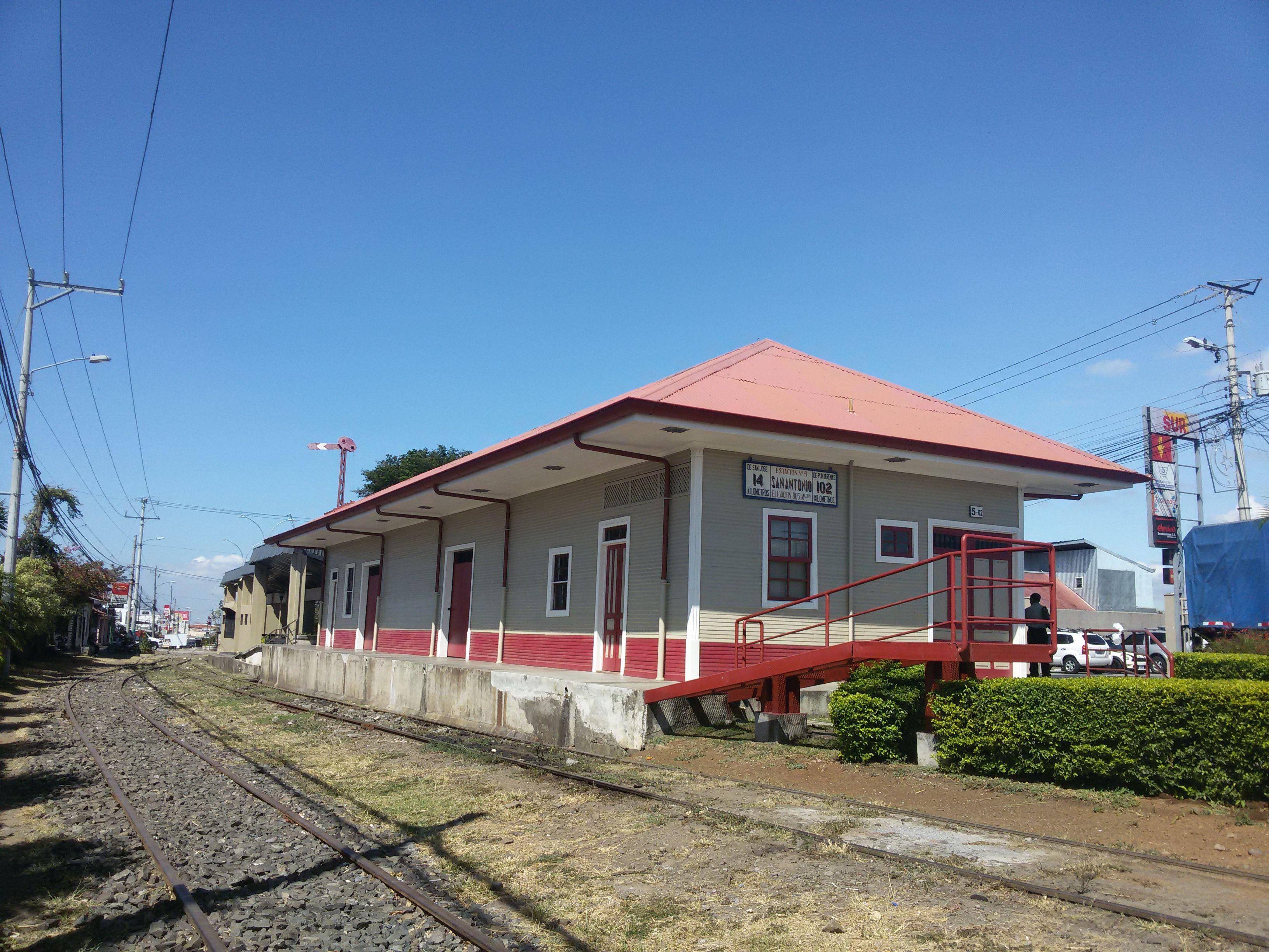 Resultado de imagen para antigua estación del ferrocarril No. 5, san antonio, belen, heredia