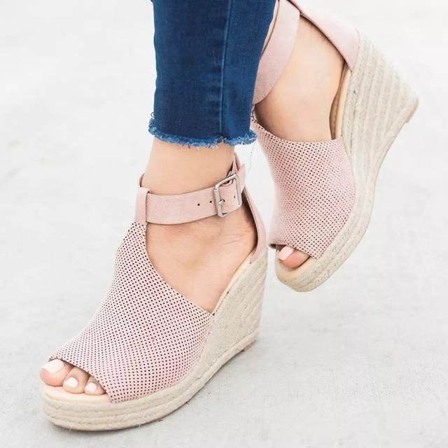 3153cafc05f67b COSIDRAM Summer Women Sandals Wedge Peep Toe Shoes High Heels Beach Ladies  Shoes Fashion Platform Rome Plus Size 42 43 SNE-095