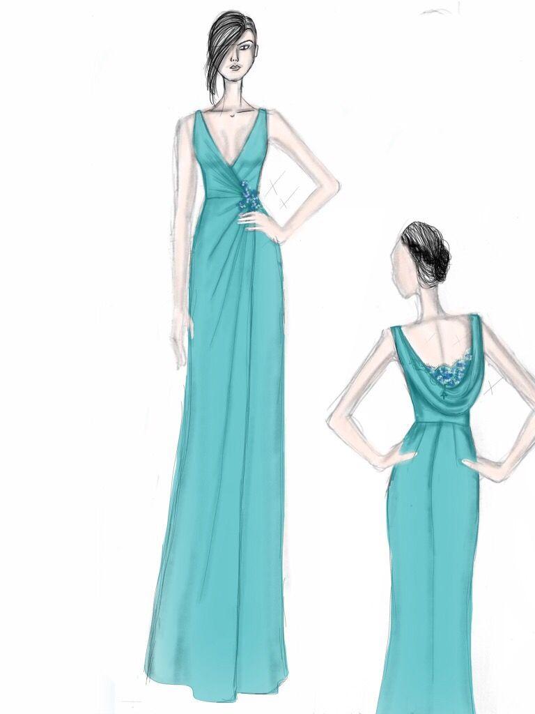 Priscilla Costa Bridal. Custom made sketch. Bridesmaid Dress ...