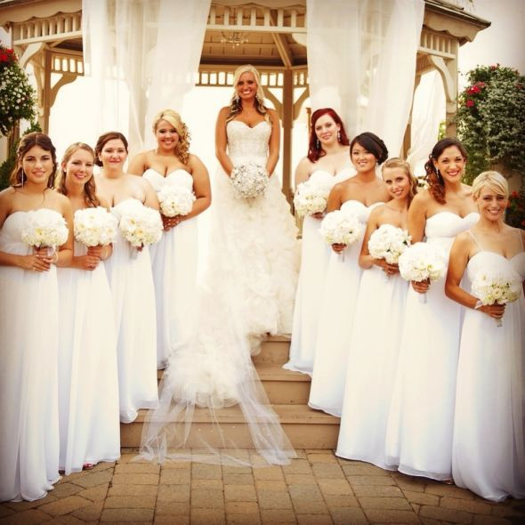 Bridesmaids Dresses White - Ocodea.com