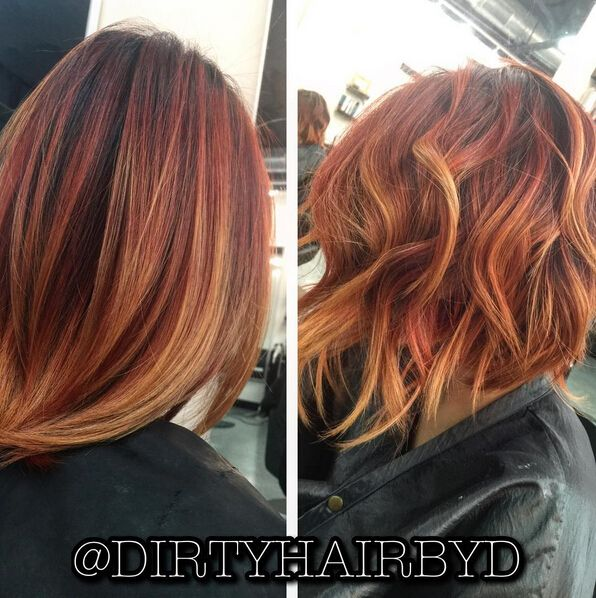 Medium Length Hairstyles The New Length Red Hairstyle Hair Styles Short Hair Styles Wavy Bob Hairstyles