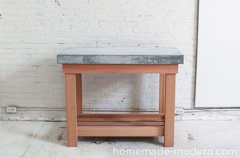 HomeMade Modern DIY EP38 Wood + Concrete Kitchen Island Options ...