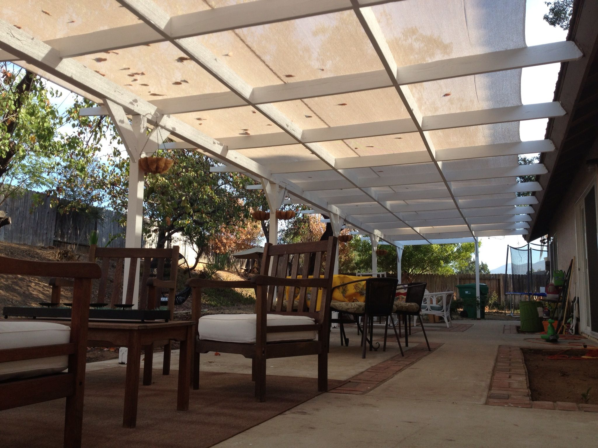 #Shade #cloth over #pergola instead of living the pergola open or of having laserlight sheeting