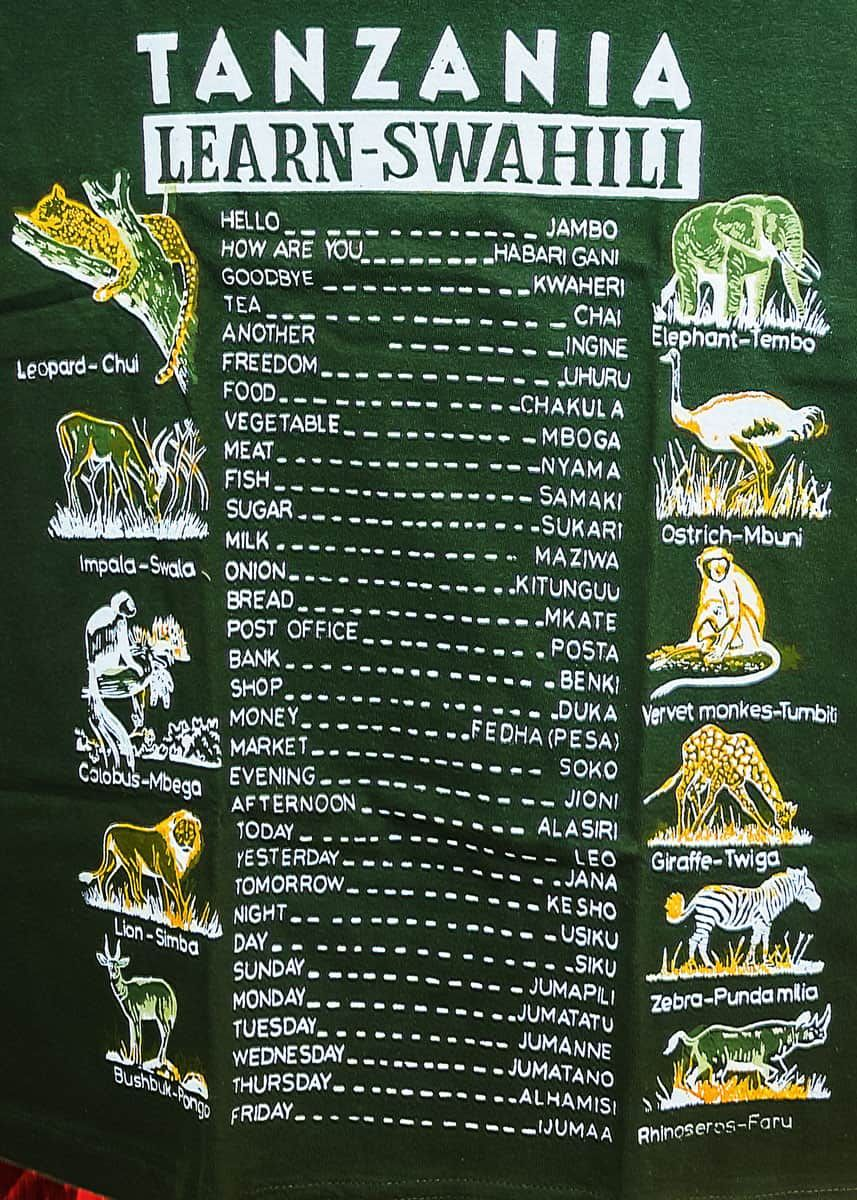 102 Swahili Animal Names Safari Guide For Travelers In 2020 Swahili Tanzania Travel Swahili Quotes