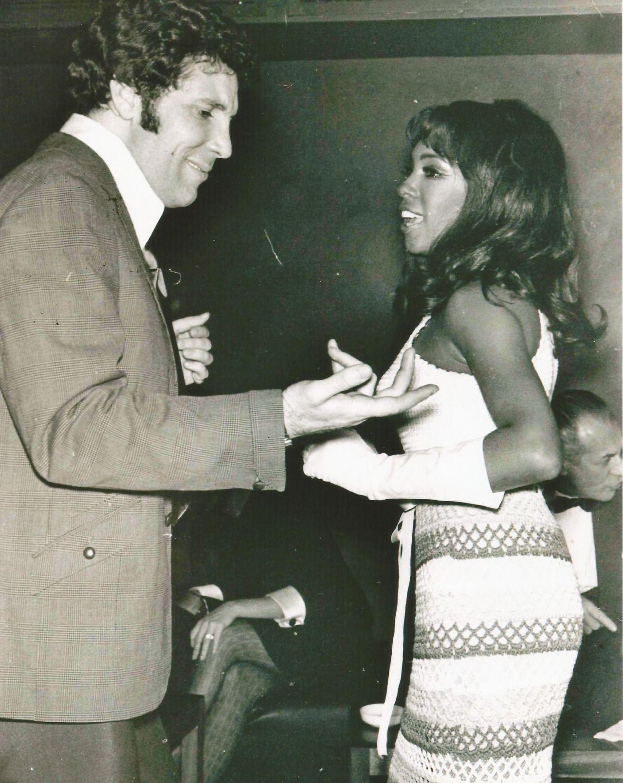 Mary Wilson With Then Boyfriend Singer Tom Jones 1968 Supreme