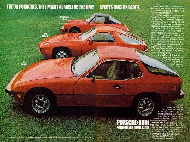 Porsche 928, 924, 911 ad