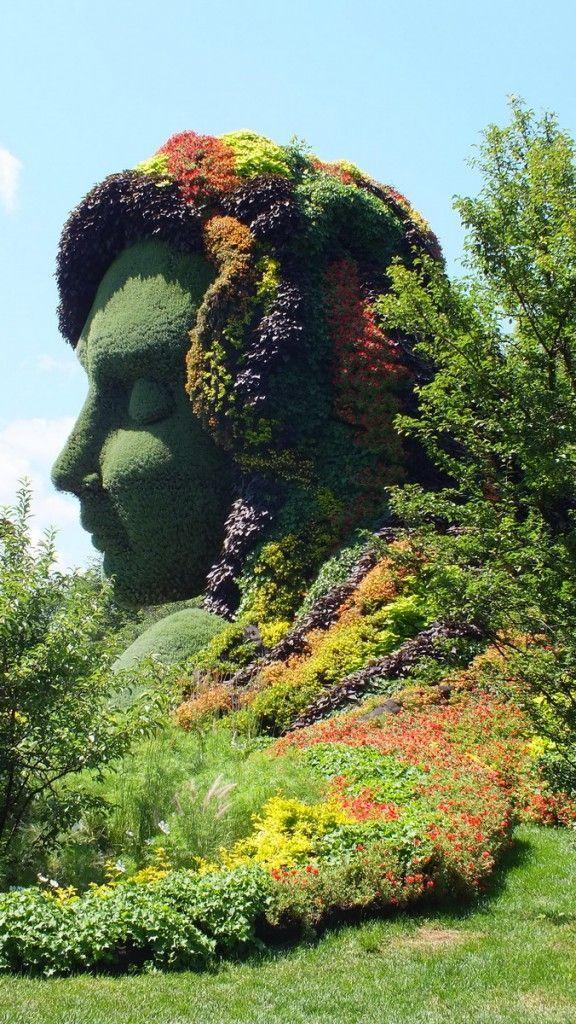Mutter Erde (Profil) - Mosaik - Botanischer Garten von Montreal ...  #botanischer #garten #montreal #mosaik #mutter #profil #botanicgarden
