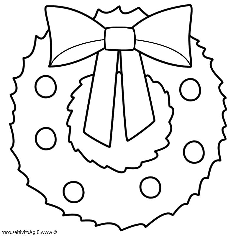 Christmas Wreath Coloring Pages Pt9f Wreath Coloring Page