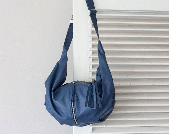 54def901090e Crossbody bag leather blue