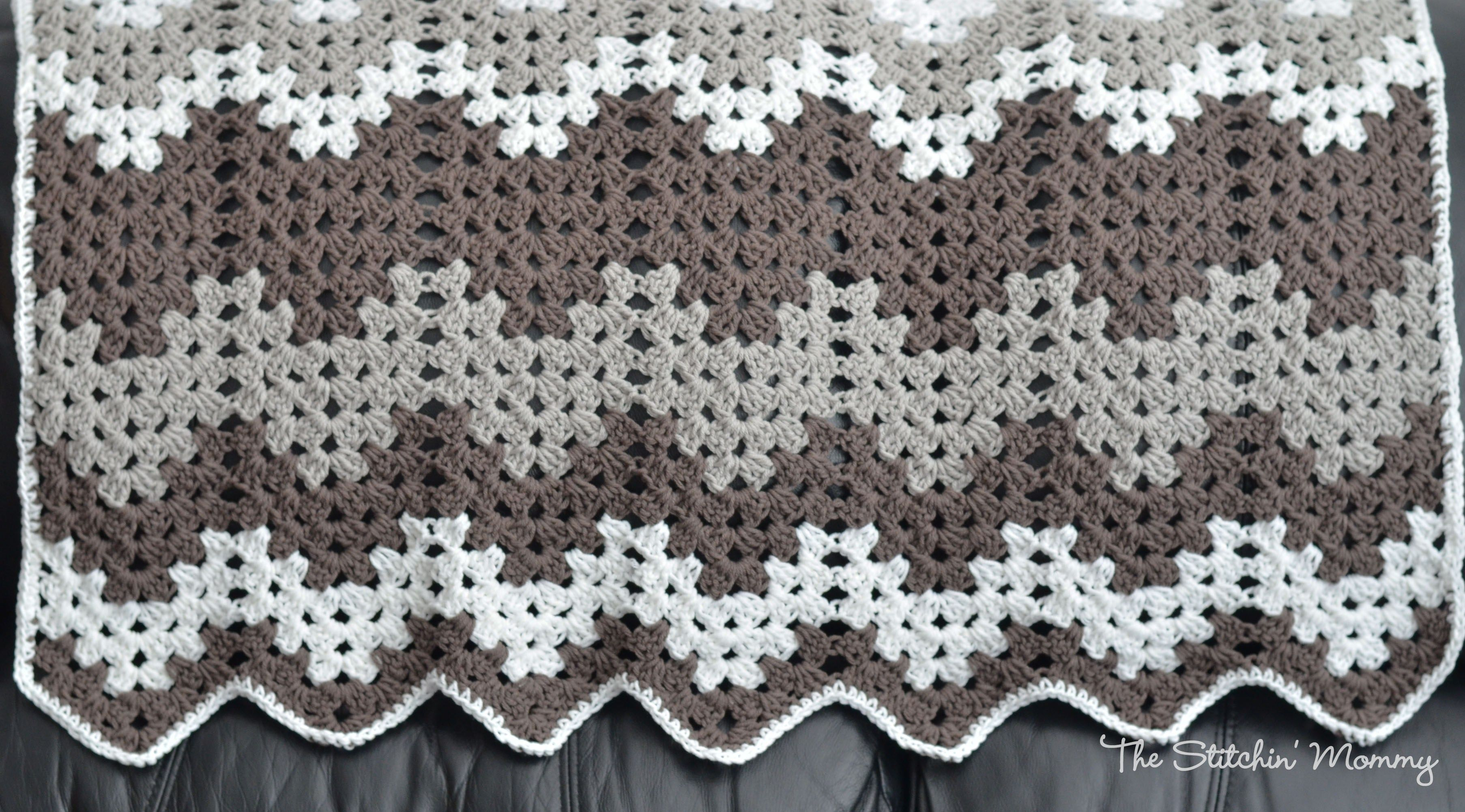Granny Ripple Blanket | For the Needles | Pinterest | Tejido