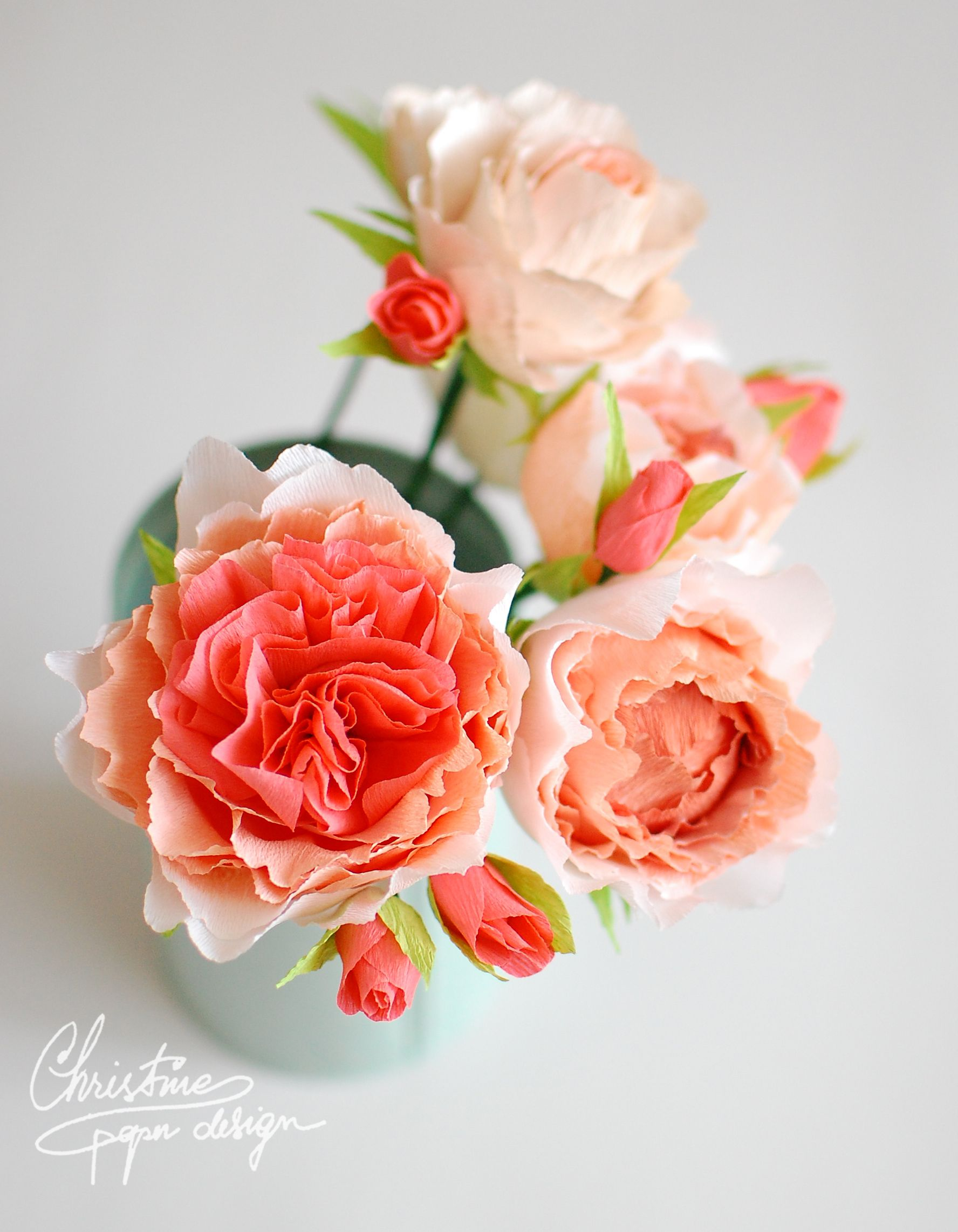 Diy Paper Flowers Lovely Coral Red Vuvuzela Roses Beautiful