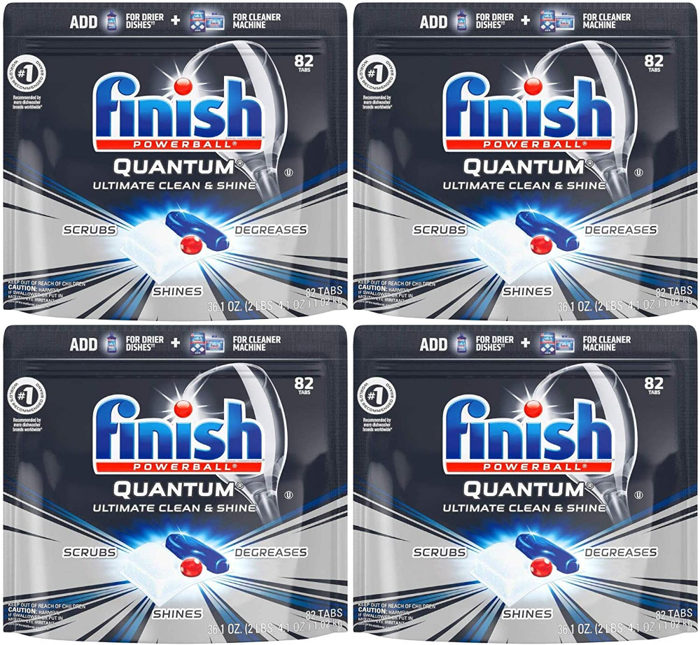 Amazon Com Finish Quantum 82 Count Dishwasher Detergent Powerball Ultimate Clean S In 2020 Dishwasher Detergent Finish Dishwasher Detergent Cleaning Items