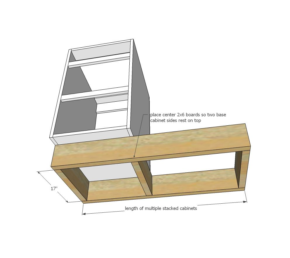 Ana White | Build a Tiny House Kitchen Cabinet Base Plan | Free and ...