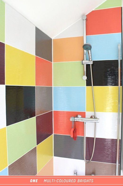 Three Ways To Colourful Steam Shower Therapy Bright Bazaar By Will Taylor Bathroom Colors Shower Tile Shower Tile Designs