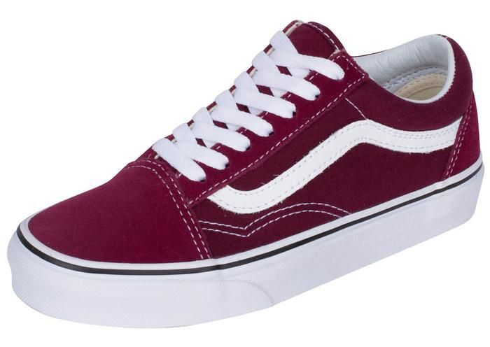 d3f368424b7c2f Vans Old Skool Burgundy True White Angle 1
