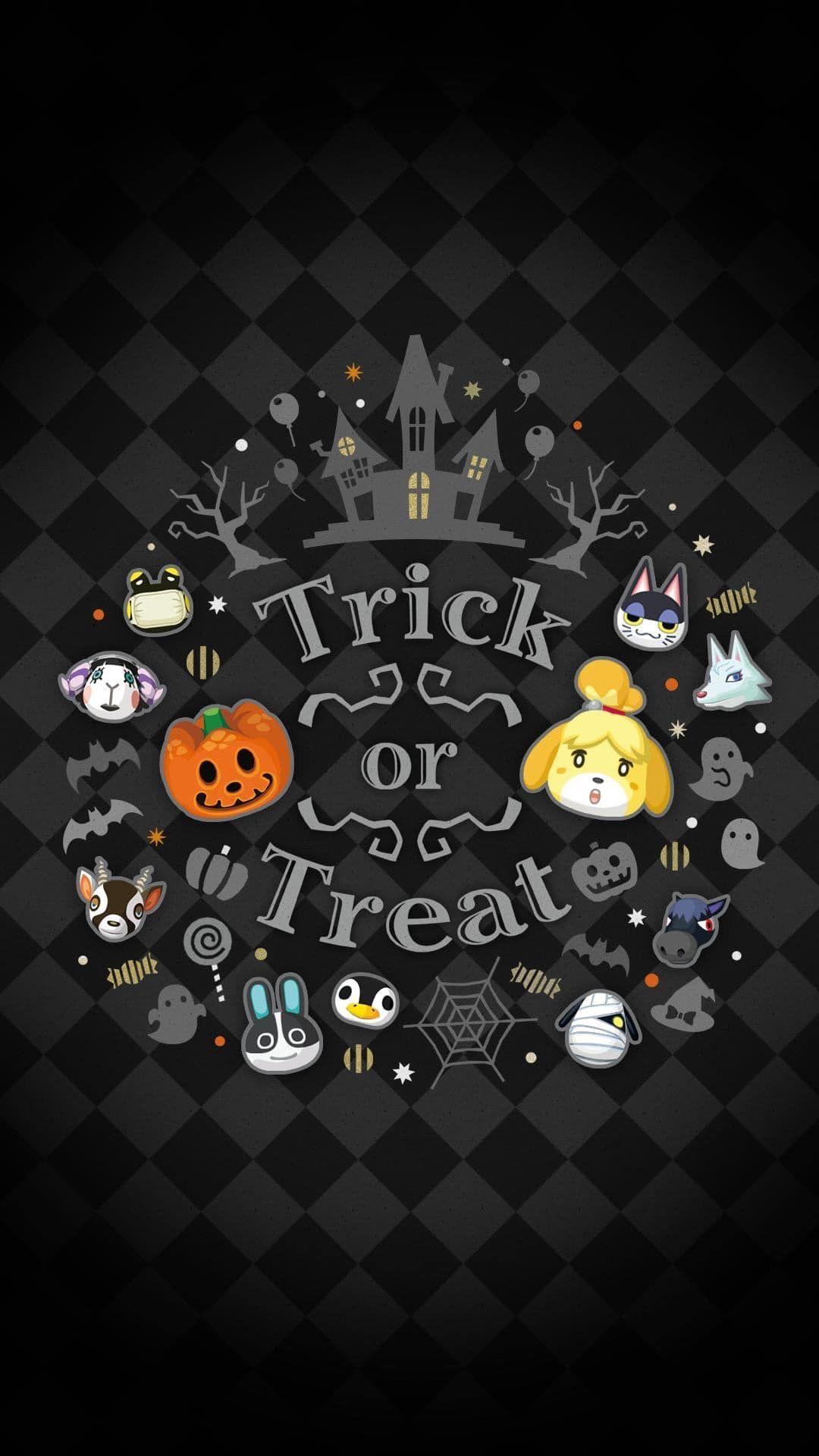 Animal Crossing Pocket Camp Halloween Wallpaper Animal Crossing