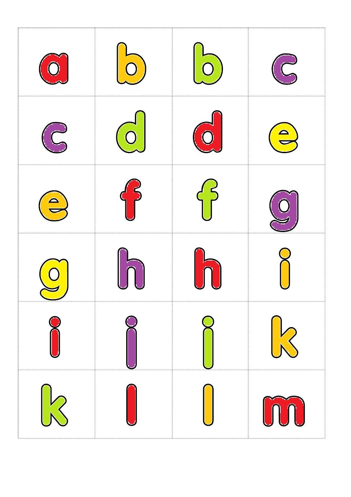 Printable Alphabet Games Memory Letter Tiles Small