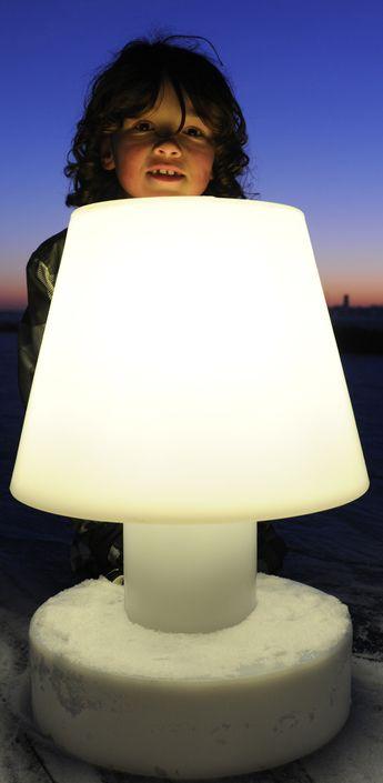 Lampe A Poser Sans Fil Led Portable Lamp Battery Blanc H56cm
