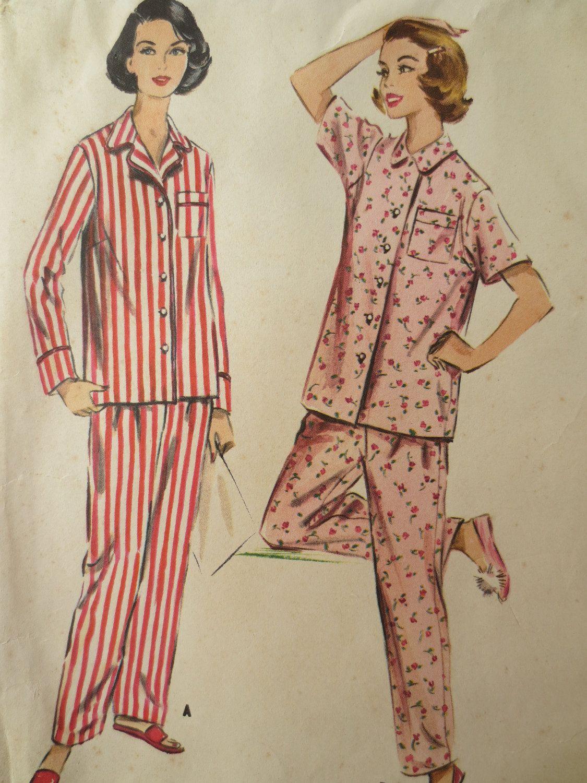 Women\'s pajamas 1950\'s-jasmine | memória | Pinterest