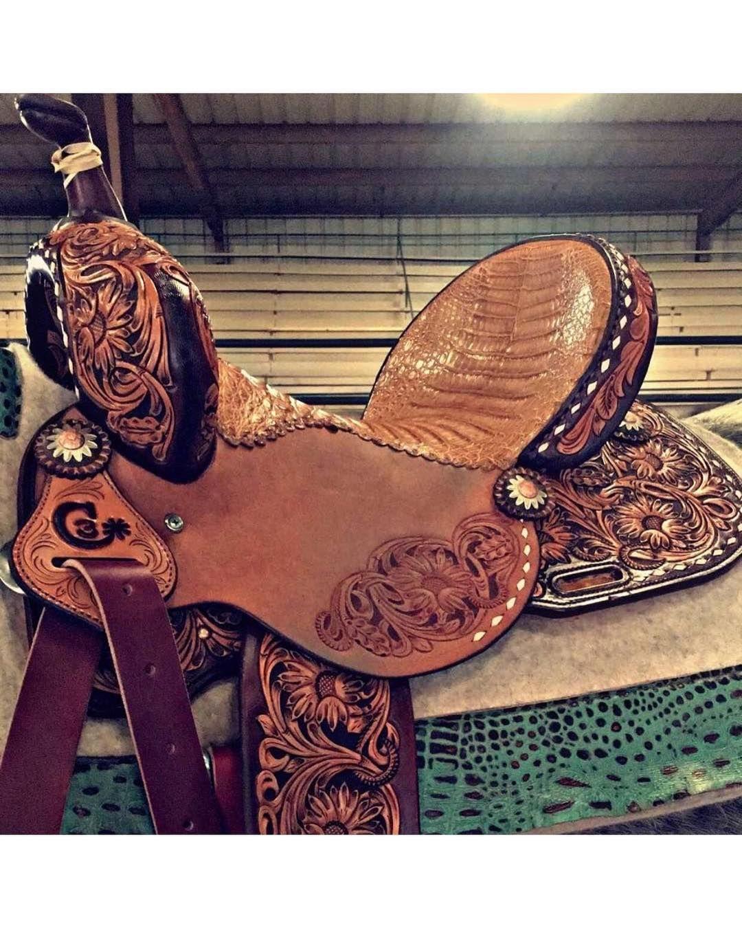 Tooled leather  | Tack | Barrel racing horses, Barrel racing tack