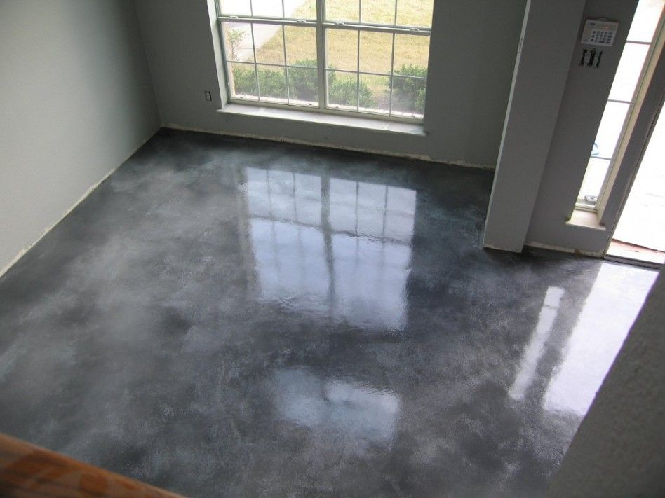 Interior Contempo Image Of Light Grey Concrete Home Flooring And Wall Paint For Decoration
