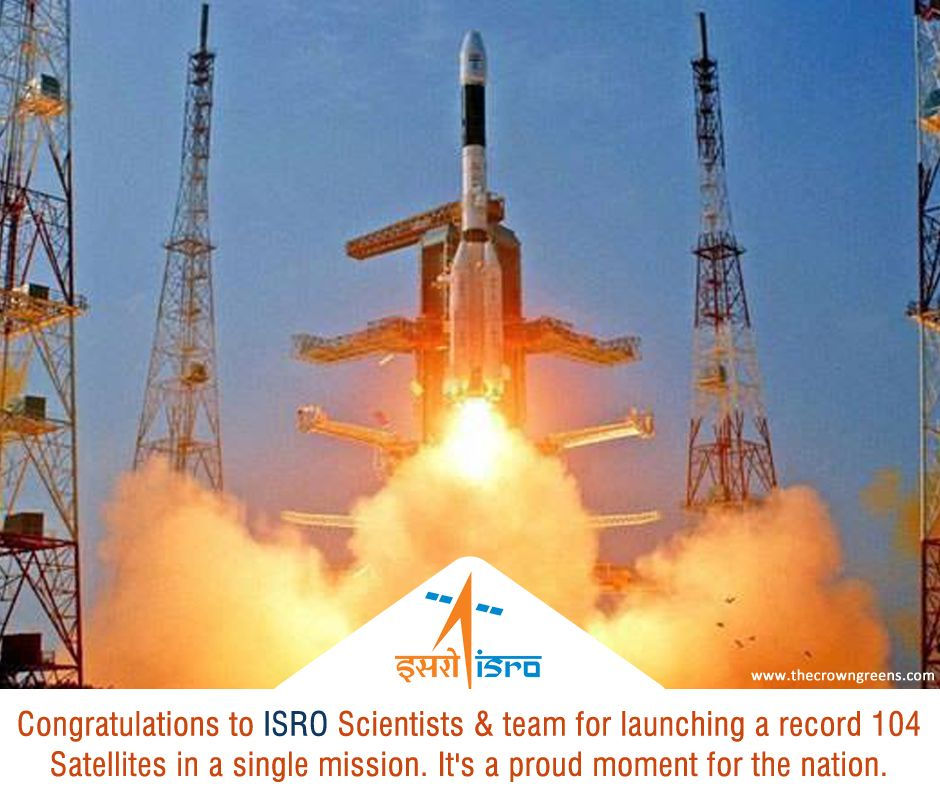 Proud Moment For India As Isro Creates World Record By Successfully Launching 104 Satellites Through Its Polar Sat World Records Foreign Countries Willis Tower