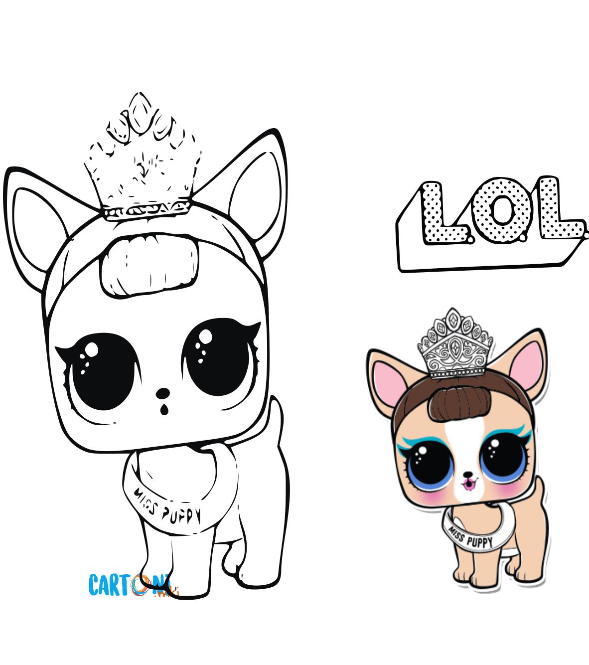 Cartoni Animati Colora Le Lol Surprise Pets Disegno Di Miss