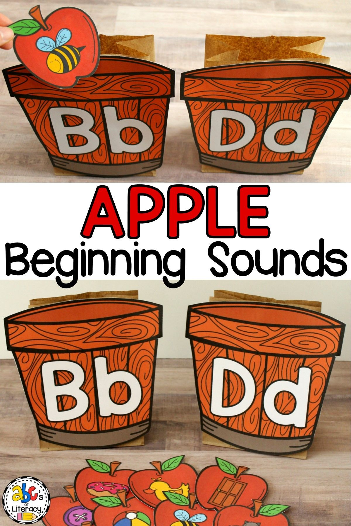 Apple Beginning Sounds Sort Activity