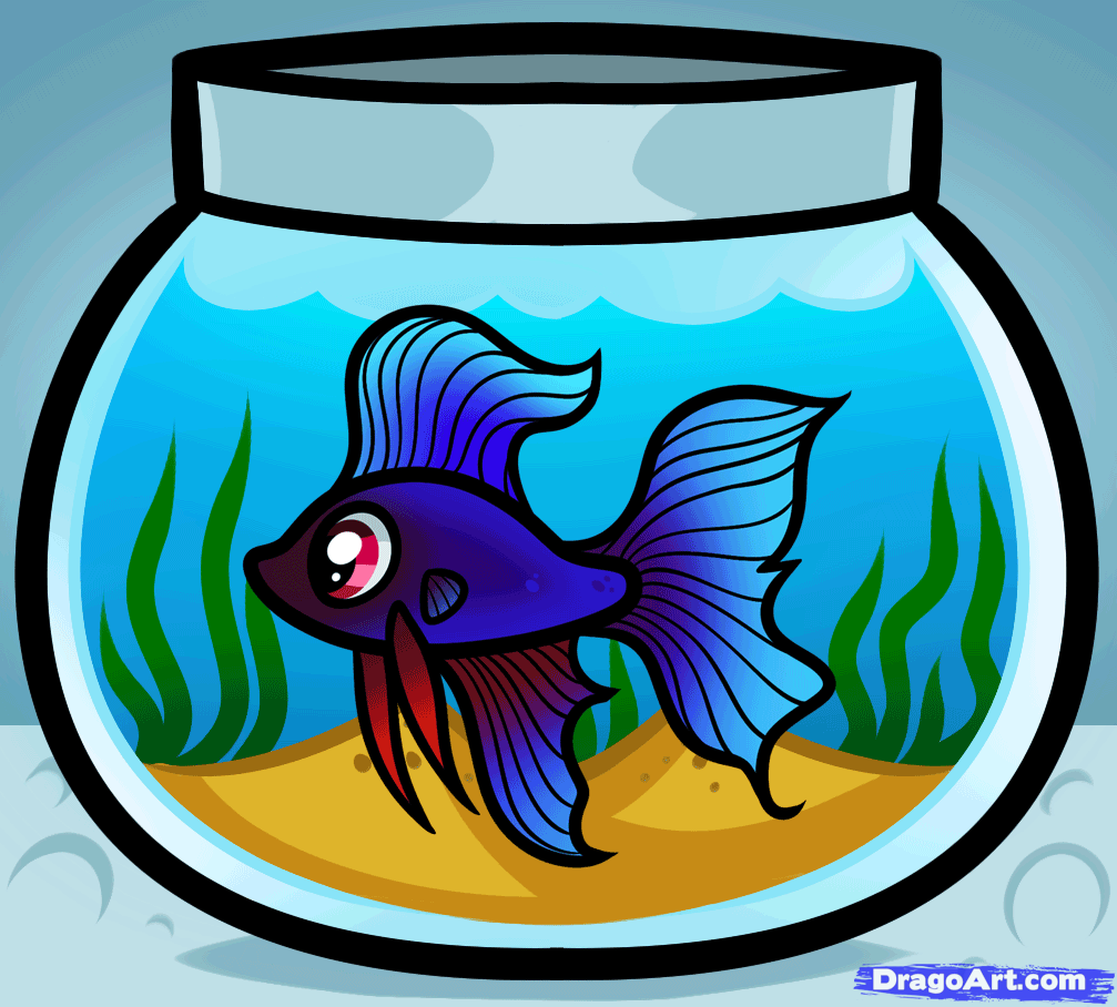 How To Draw A Fish Tank Step By Step Fish Animals Free Online Drawing Tutorial Added By Dawn March 3 Fish Tank Drawing Fish Drawing For Kids Tank Drawing