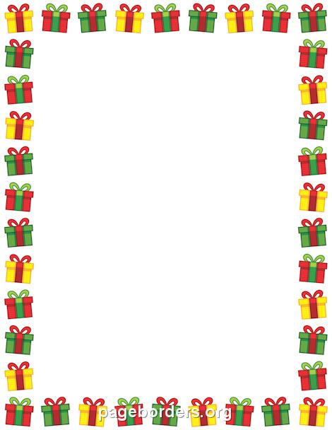Christmas Present Border | Frame2 | Pinterest | Border templates ...
