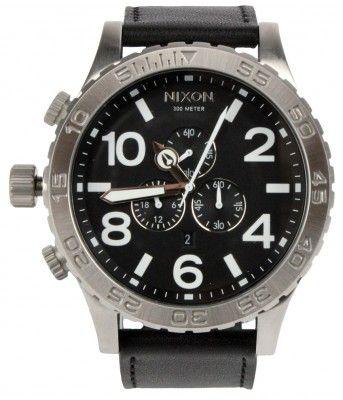 Nixon Watches The 51-30 Chrono Leather Watch - Black $375.00 #nixon #51-30 #watch