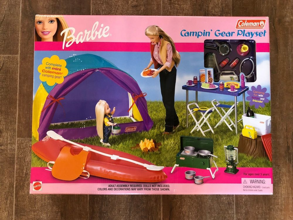 Barbie Coleman Campin' Camping Gear Playset 2001 Mattel New In Box ...