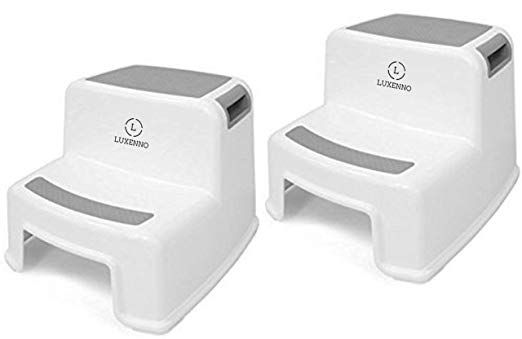 Peachy 2 Pack Dual Height Step Stool For Toddlers Kids Nursery Dailytribune Chair Design For Home Dailytribuneorg