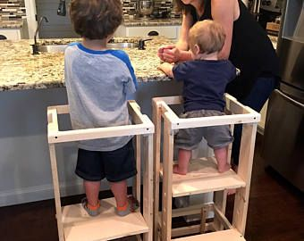 Child Kitchen Helper, Step Stool, Toddler Stool, Tot Tower, Mommyu0027s Helper,  Safe Step Stool