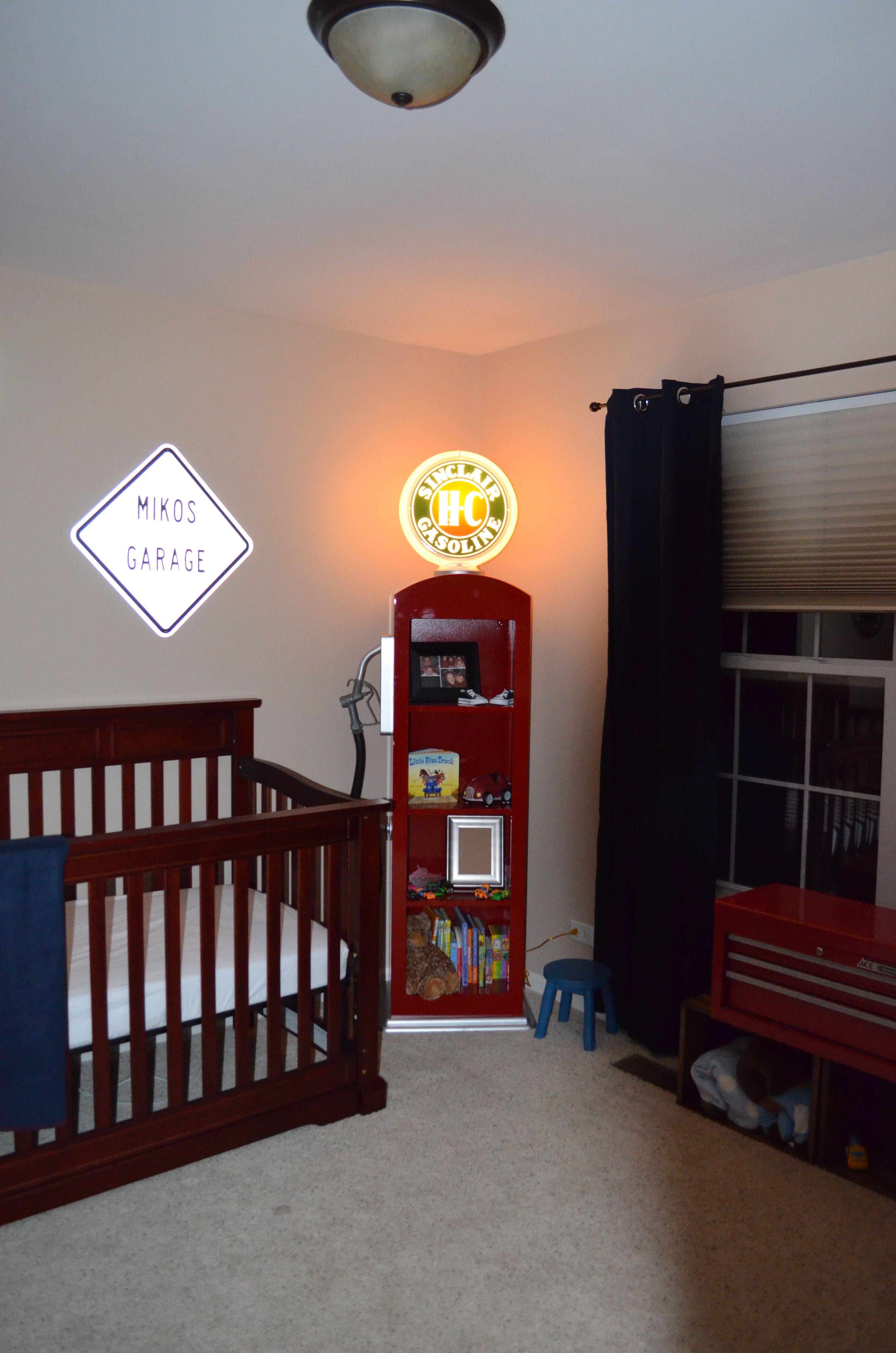 "Baby Boy Room Cars: Gas Pump Shelf- The Perfect ""night Light"""