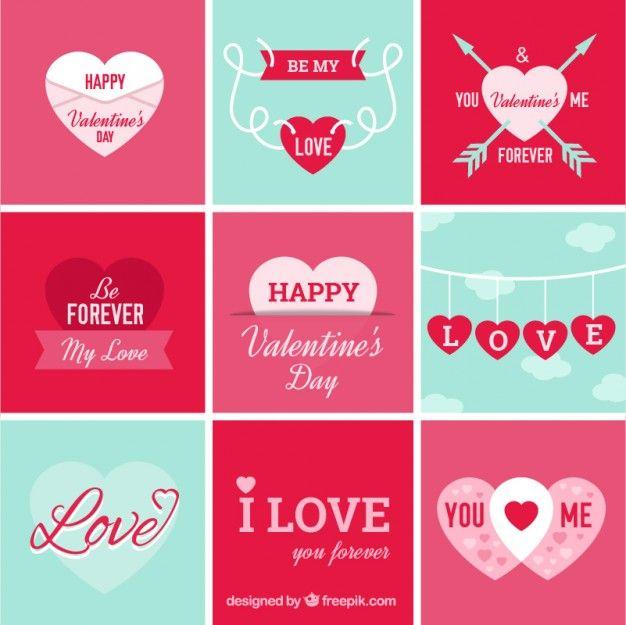 Diferentes corazones para el día de san valentín Vector Gratis | San ...
