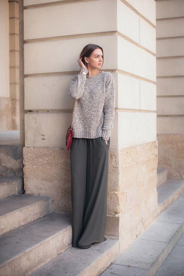 Модные широкие брюки в реальных образах. Как вам? 2