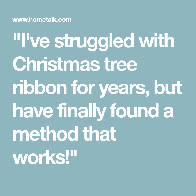 How to Hang Ribbon on a Christmas Tree | Ribbon on ...